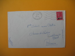Lettre De La Réunion CFA  1973  N° 393  Marianne De Béquet De Saint Benoit Pour Saint Benoit - Reunion Island (1852-1975)