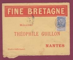 150619 - BELGIQUE - Enveloppe Illustrée FINE BRETAGNE Pour Nantes France 1905 - 1893-1900 Thin Beard