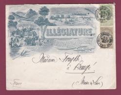 150619 - BELGIQUE - Enveloppe Illustrée VILLEGIATURE PHOTO PHOTOGRAPHE LIEGE Depart Pour France 1905 - 1893-1900 Thin Beard