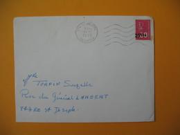 Lettre De La Réunion CFA  1973  N° 393  Marianne De Béquet Le Tampon Pour Saint Joseph - Réunion (1852-1975)