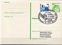 Germany Used Postal Stationery Card Posted By Coach On 27.8.90. - [7] Federal Republic