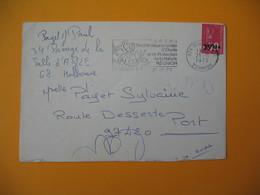 Lettre De La Réunion CFA  1973  N° 393  Marianne De Béquet De Saint Denis Pour Le Port EM Protection... - Reunion Island (1852-1975)