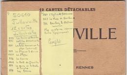 50. JULLOUVILLE. CPA  . CARNET COMPLET DE 12 CARTES DÉTACHABLES . - Carteret