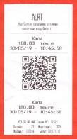 Kazakhstan 2019. City Nur-Sultan. One Way Ticket For Bus. - Bus