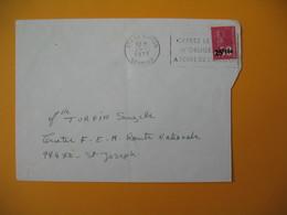 Lettre De La Réunion CFA  1973  N° 393  Marianne De Béquet Le Tampon Pour Saint Joseph - Reunion Island (1852-1975)