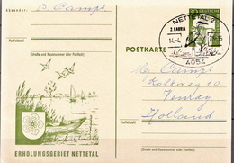 Germany Used Postal Stationery Card With Special Cancel - Grues Et Gruiformes
