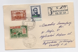 MAIL Post Cover USSR RUSSIA Sport Chess Chigorin Stalin Constitution RARE - 1923-1991 URSS