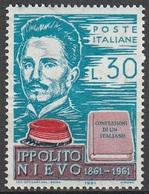 Italia 1961: Ippolito Nievo - MNH ** - 1961-70:  Nuovi