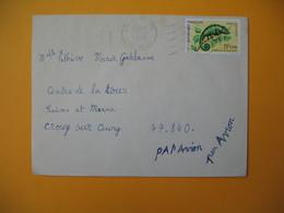 Lettre De La Réunion CFA  1974  N° 399 Caméléon Protection De La Nature De Saint Joseph Pour La France - Reunion Island (1852-1975)