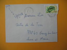 Lettre De La Réunion CFA  1974  N° 399 Caméléon Protection De La Nature Le Piton Saint Leu Pour La France - Reunion Island (1852-1975)