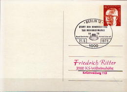 Germany Postal Stationery Card With Special Cancel - Stamps On Stamps
