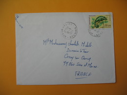 Lettre De La Réunion CFA  1974  N° 399 Caméléon Protection De La Nature La Saline  Pour La France - Reunion Island (1852-1975)