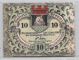 10 Pfg. Notgeld Zeulenroda VG/G (IV) - Lokale Ausgaben