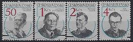 Czechoslovakia 1984  Anti-Fascist Heroes (o) Mi.2763-2766 - Czechoslovakia