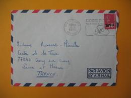 Lettre De La Réunion CFA  1974  N° 393  Marianne De Béquet De Saint Pierre Pour La France EM Code Postal - Reunion Island (1852-1975)