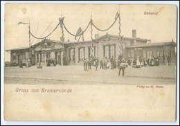 N7032-2740/ Gruß Aus Bremervörde  Bahnhof AK 1898 - Germany