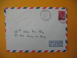 Lettre De La Réunion CFA  1974  N° 393  Marianne De Béquet De Sainte Rose Pour La France - Reunion Island (1852-1975)