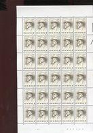 Belgie 1981 2015 Remouchamps Play Writer Literature Luppi Full Sheet MNH Plaatnummer 1 - Full Sheets