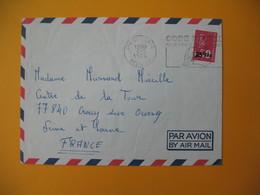 Lettre De La Réunion CFA  1974  N° 393  Marianne De Béquet De Saint Pierre Pour La France - Reunion Island (1852-1975)
