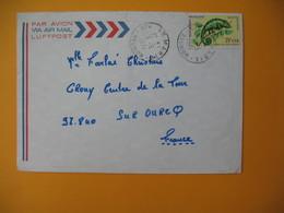 Lettre De La Réunion CFA  1974  N° 399 Caméléon Protection De La Nature De Sainte Marie Pour La France - Reunion Island (1852-1975)