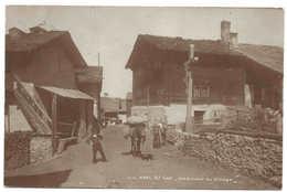 VALAIS, St-Luc, Intérieur Du Village, Couple, Mulet Chargé De Marchandises, 1924 Voyagée Pour Mayens De Sierre - VS Wallis