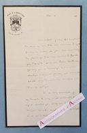 L.A.S Père Thomas BOURARD Dominicain D'ARCUEIL Assassiné Par La COMMUNE Couvent Saint Thomas D'Aquin Lettre Autographe - Autographes