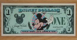 Etat-Unis D'Amérique 1 Disney Dollar 1987 Revers Château - Etats-Unis