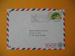 Lettre De La Réunion CFA  1974  N° 399 Caméléon Protection De La Nature De Saint Denis Pour La France EM Finale National - Reunion Island (1852-1975)