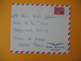 Lettre De La Réunion CFA  1974  N° 393  Marianne De Béquet De Saint Joseph Pour La France - Reunion Island (1852-1975)