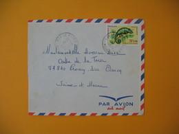 Lettre De La Réunion CFA  1974  N° 399 Caméléon Protection De La Nature  -  Le Piton Pour La France - Reunion Island (1852-1975)