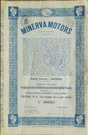 Minerva Motors Anvers ( Aandeel Obligation Action ) Auto Voiture - Automobile