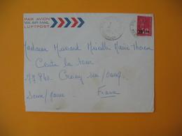 Lettre De La Réunion CFA  1974  N° 393  Marianne De Béquet De Terre Saint Pour La France - Reunion Island (1852-1975)