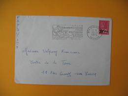 Lettre De La Réunion CFA  1974  N° 393  Marianne De Béquet De Saint Denis Pour La France EM Protection De La Nature - Reunion Island (1852-1975)