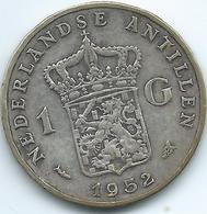 Netherlands Antilles - Juliana - 1952 - 1 Gulden - KM2 - Antilles Neérlandaises