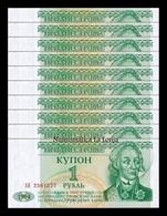 Transnistria Lot Bundle 10 Banknotes 1 Ruble 1994 Pick 16 SC UNC - Billetes