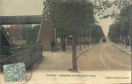 CPA Chatou Passerelle Et Avenue Victor Hugo - Chatou