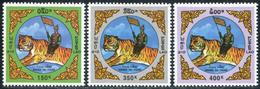 209- Laos 1998 YT 1308-10 ; Mi# 1620-22 **  MNH  Nouvel An Chinois: Année Du Tigre - Laos
