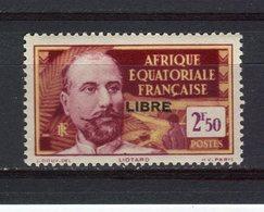 AFRIQUE EQUATORIALE FRANCAISE - Y&T N° 123** - MNH - Liotard Surchargé LIBRE - Neufs