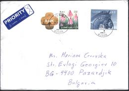 Mailed Cover (letter) With Stamps Flora Flowers 2004,  Fauna Horse 2006 From Finland - Finland