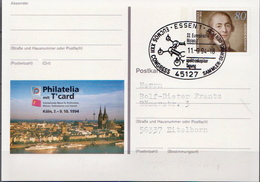 Germany Used Postal Stationery Card With Special Cancel - Chemistry