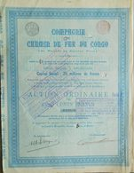 Compagnie Chemin De Fer Du Congo : Matida Au Stanley Pool ( Aandeel Obligation Action ) - Chemin De Fer & Tramway