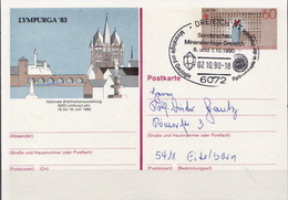 Germany Used Postal Stationery Card With Special Cancel - Minerals