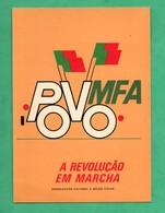 Portugal  Povo Mfa Revoluçao Em Marcha Cartaz 1975 Artur Rosa - Non Classificati