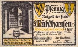 50 Pfg. Notgeld Mühlhausen VF/F (III) - Lokale Ausgaben