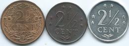 Netherlands Antilles - 2½ Cents - 1959 (KM5) 1971 (KM9) & 1984 (KM9a) - Antilles Neérlandaises