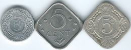Netherlands Antilles - 5 Cents - 1963 (KM6) 1984 (KM13) & 1989 (KM33) - Antilles Neérlandaises