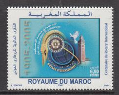 2005 Morocco Maroc  Rotary International Complete Set Of 1 MNH - Morocco (1956-...)