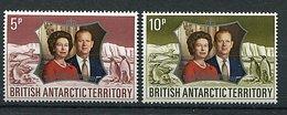 Antarctique Britannique ** N° 43 - 44 - 25e Ann. De Mariage De La Reine Elizabeth II - - British Antarctic Territory  (BAT)