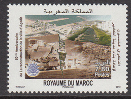2010 Morocco Maroc  Agadir Reconstruction Complete Set Of 1 MNH - Morocco (1956-...)