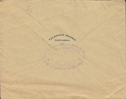 Spain FULGENCIO MADRID, CARTAGENA  192? Cover Brief HAMBURG Germany Single Alphonse XIII. - 1889-1931 Königreich: Alphonse XIII.